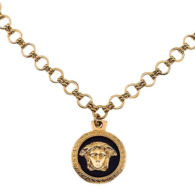 Vintage gianni versace medusa pendant necklace at 1stdibs vintage gianni versace medusa pendant necklace for sale aloadofball Images