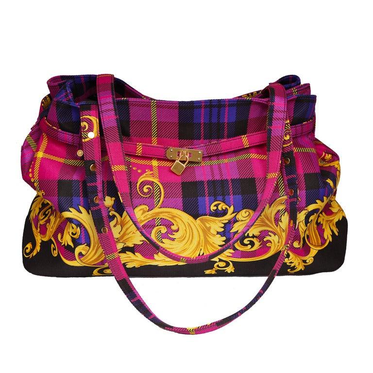 Versace Baroque Print Bag For Sale