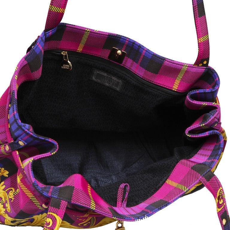 Versace Baroque Print Bag For Sale 1