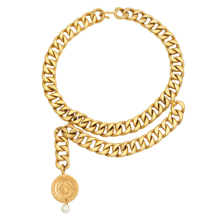 Chanel Choker Necklace with Coin Motif 1