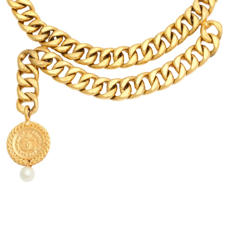 Chanel Choker Necklace with Coin Motif 2