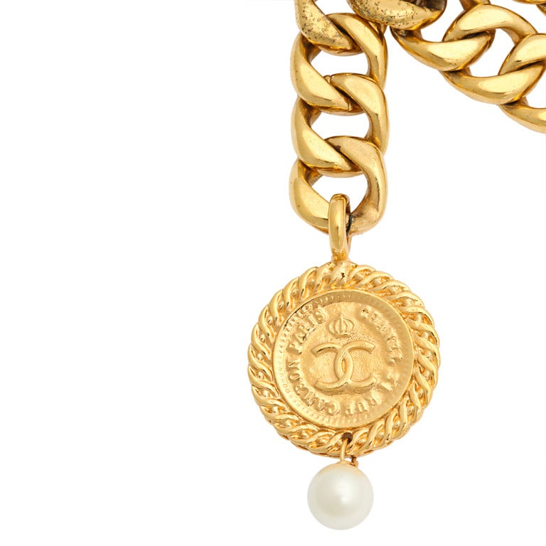 Chanel Choker Necklace with Coin Motif 3