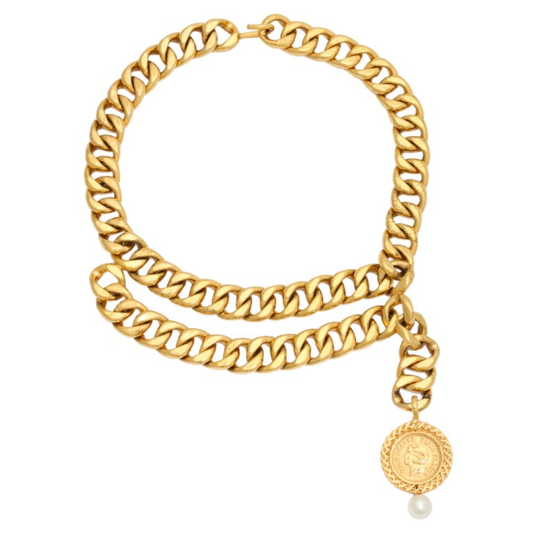 Chanel Choker Necklace with Coin Motif 5