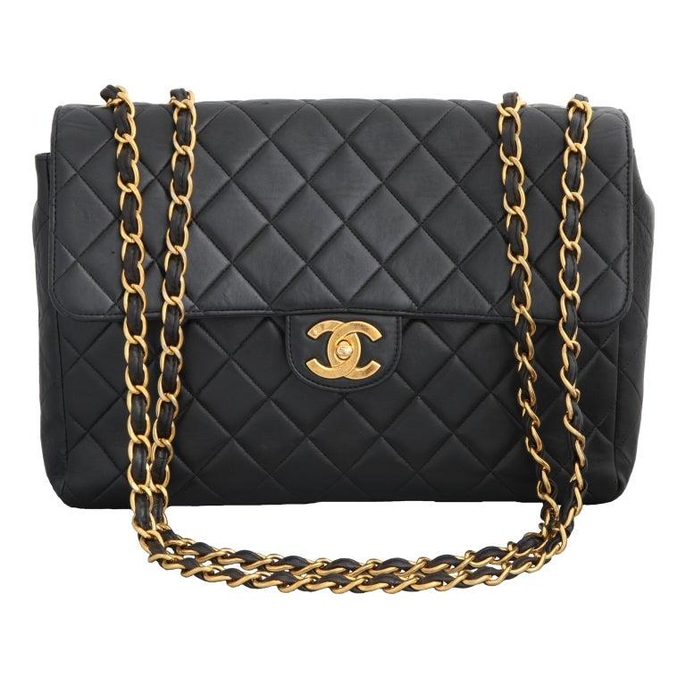 Women's Chanel Lambskin Jumbo Bag For Sale