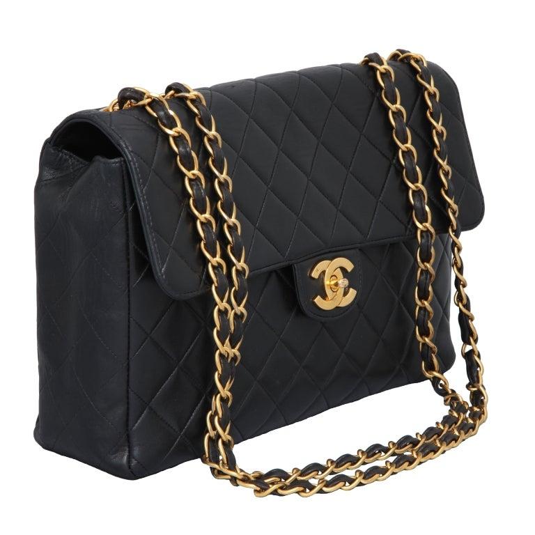 Chanel Lambskin Jumbo Bag For Sale 2