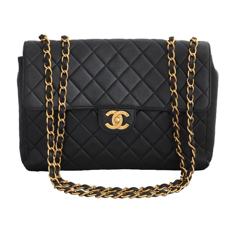 Chanel Lambskin Jumbo Bag For Sale