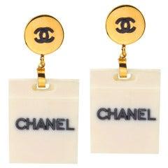 Chanel Shopping Bag Motif Earrings