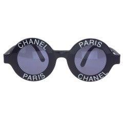 Chanel 'Chanel Paris' Logo Frame Sunglasses