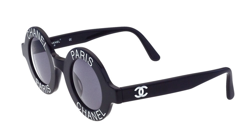 Chanel Chanel Paris Logo Frame Sunglasses For Sale at ...