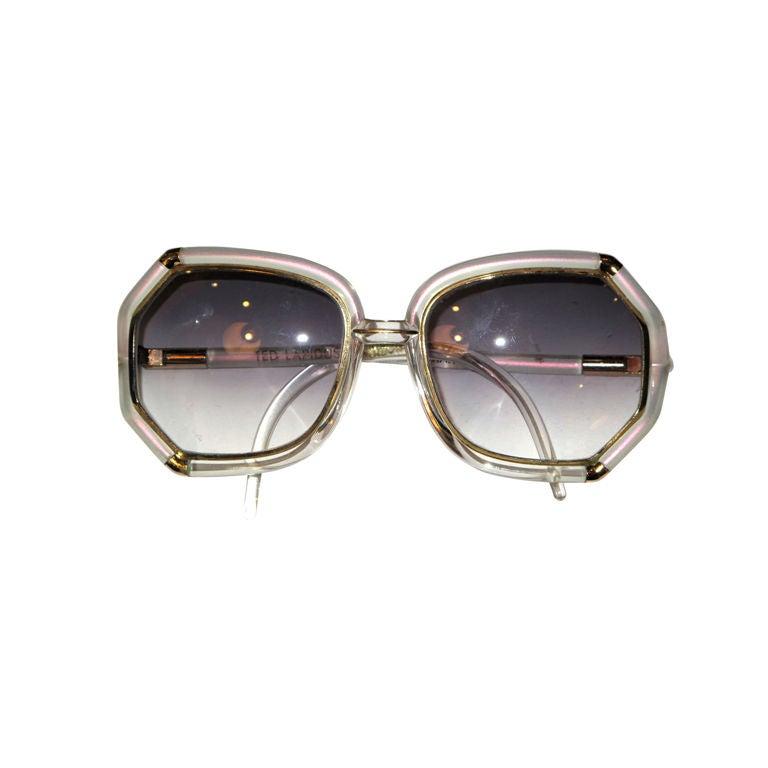 TED LAPIDUS Iridescent Sunglasses 1
