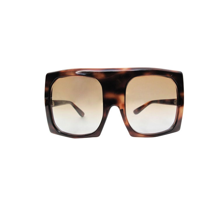 AMAZING Large PIERRE CARDIN MOD Tortoise Shell Sunglasses