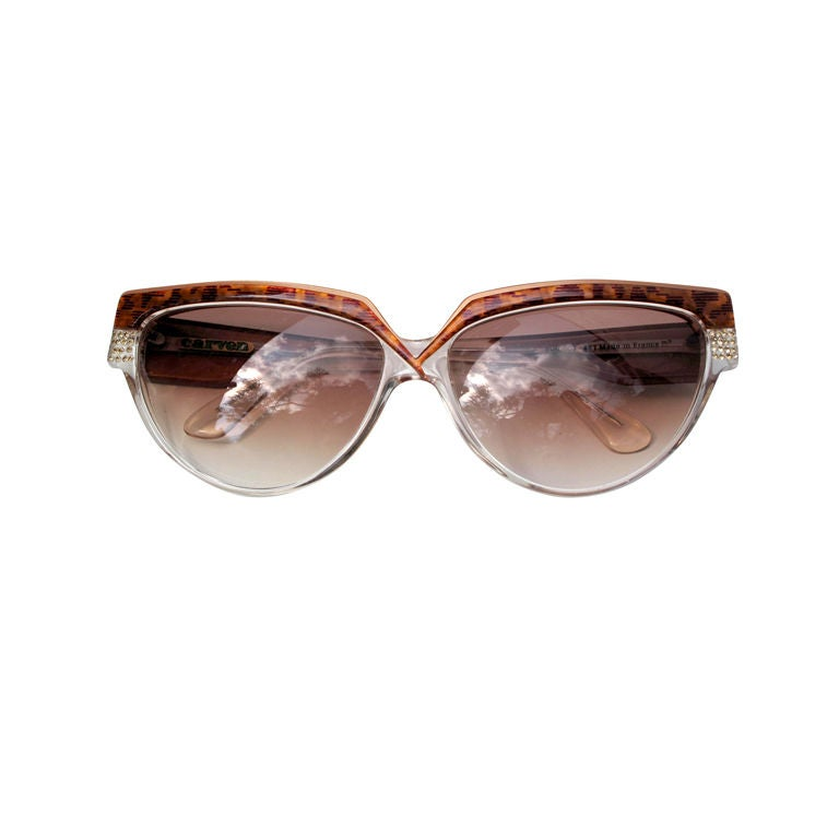 Carven Tortoise Style Patterned Sunglasses At 1stdibs