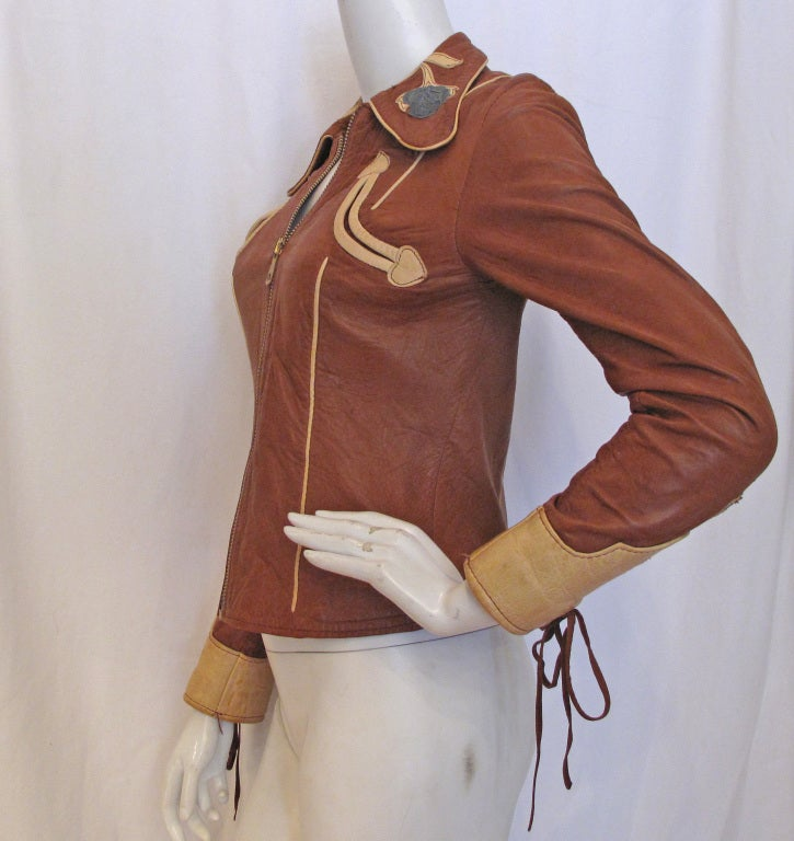 EAST WEST MUSICAL INSTRUMENTS 1970s Rock N Roll Leather Jacket 5