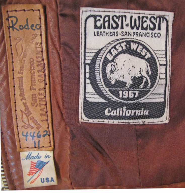 EAST WEST MUSICAL INSTRUMENTS 1970s Rock N Roll Leather Jacket 8