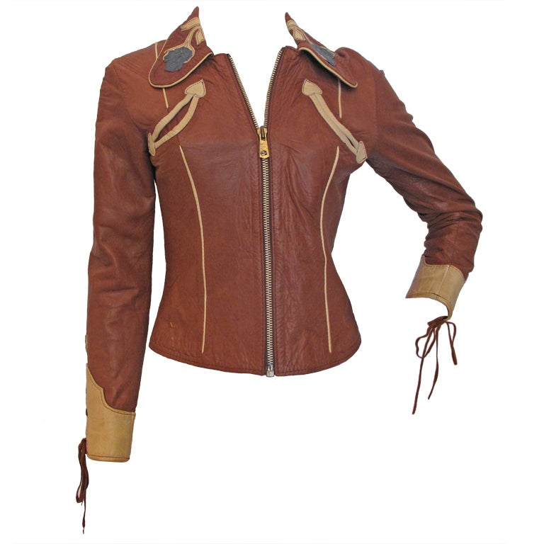 EAST WEST MUSICAL INSTRUMENTS 1970s Rock N Roll Leather Jacket 1