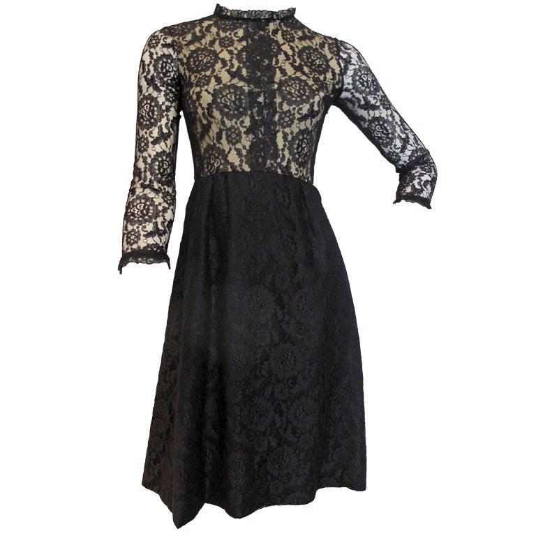 1960s GEOFFREY BEENE boutique Cocktail Dress 1