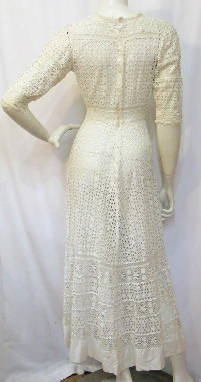 Victorian Lace Cutwork Dress 3