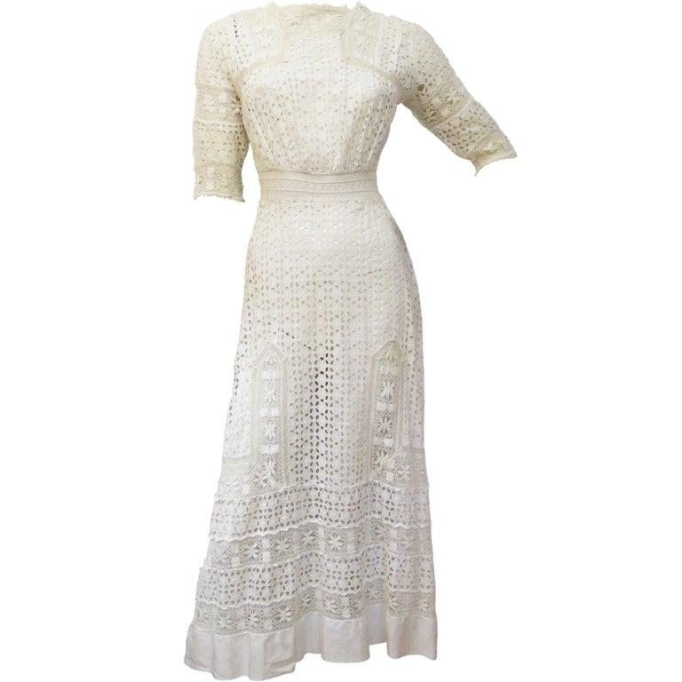 Victorian Lace Cutwork Dress 1
