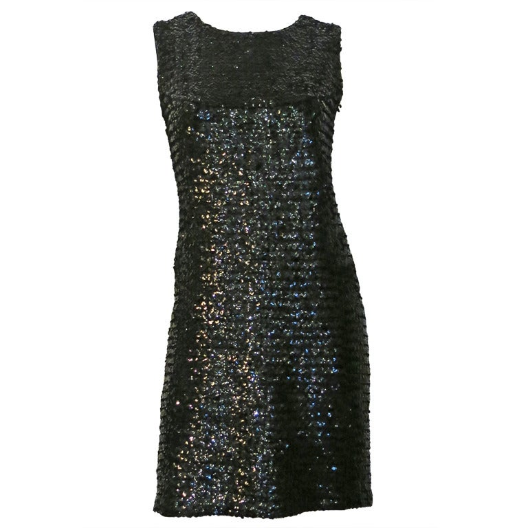 Suzy Perette Black Fully Sequined Cocktail Dress