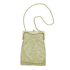 Whiting & Davis White Metal Mesh Evening Bag