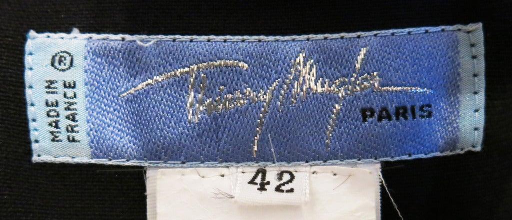 Thierry Mugler 90s Black Body Con Full Length Dress 7