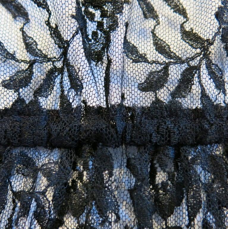 Guy Laroche Black Lace Long Sleeve Peplum Blouse 5