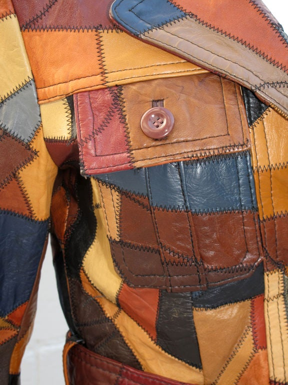 1970s Quilted Patchwork Leather Jacket At 1stdibs