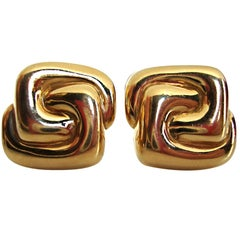 ALDO CIPULLO, 18k Gold Ear Clips. c1970