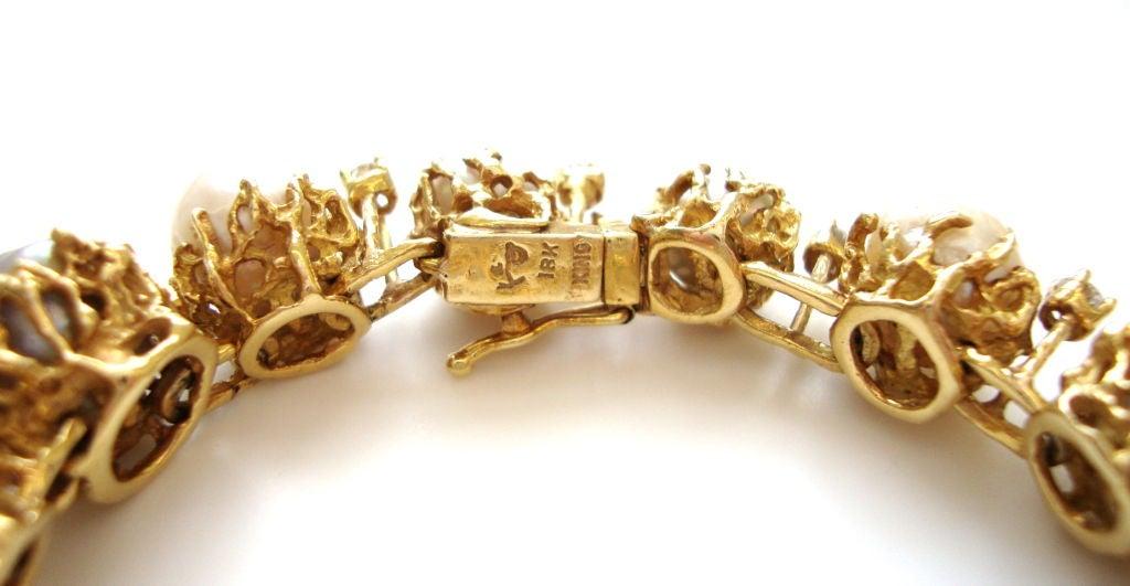 ARTHUR KING, 18k Pearl and Diamond Bracelet, circa 1970 5
