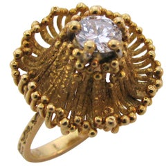 ANDREW GRIMA, 18k Gold and Diamond Ring, circa 1970