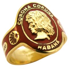 CARTIER, 18k Gold and Enamel Ring, c1970