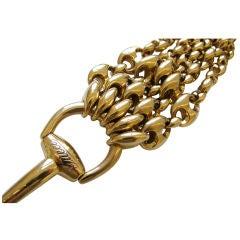 GUCCI, A Massive Gold Bit Bracelet