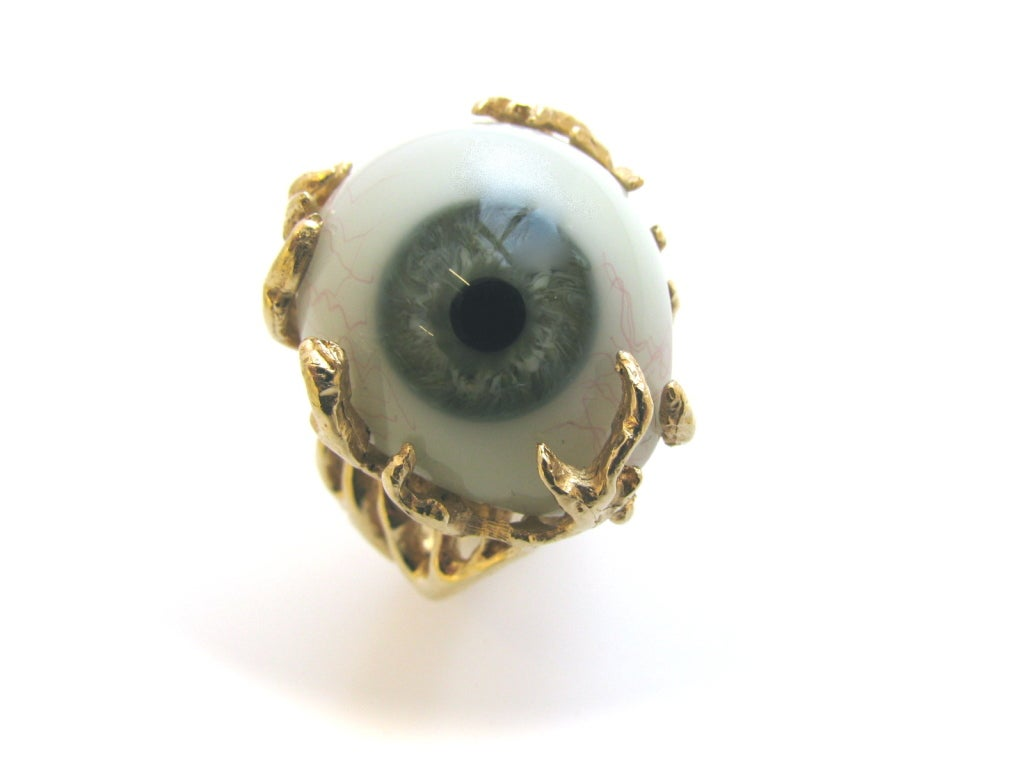 Glass Eye and Gold Ring c1970 4