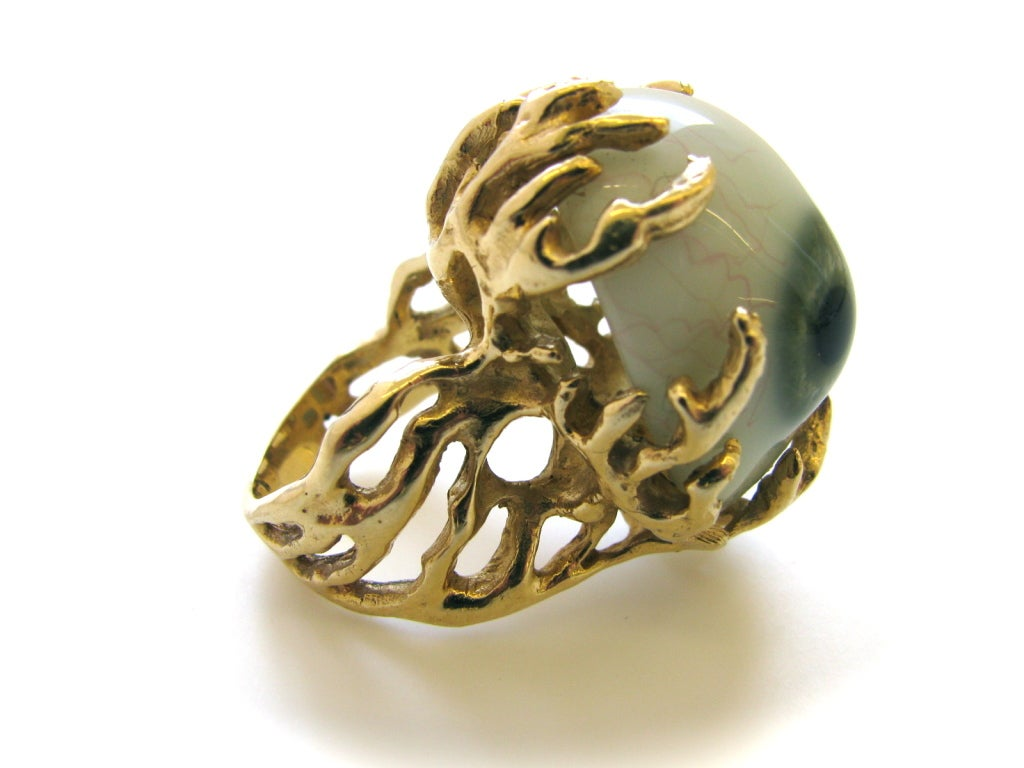 Glass Eye and Gold Ring c1970 6