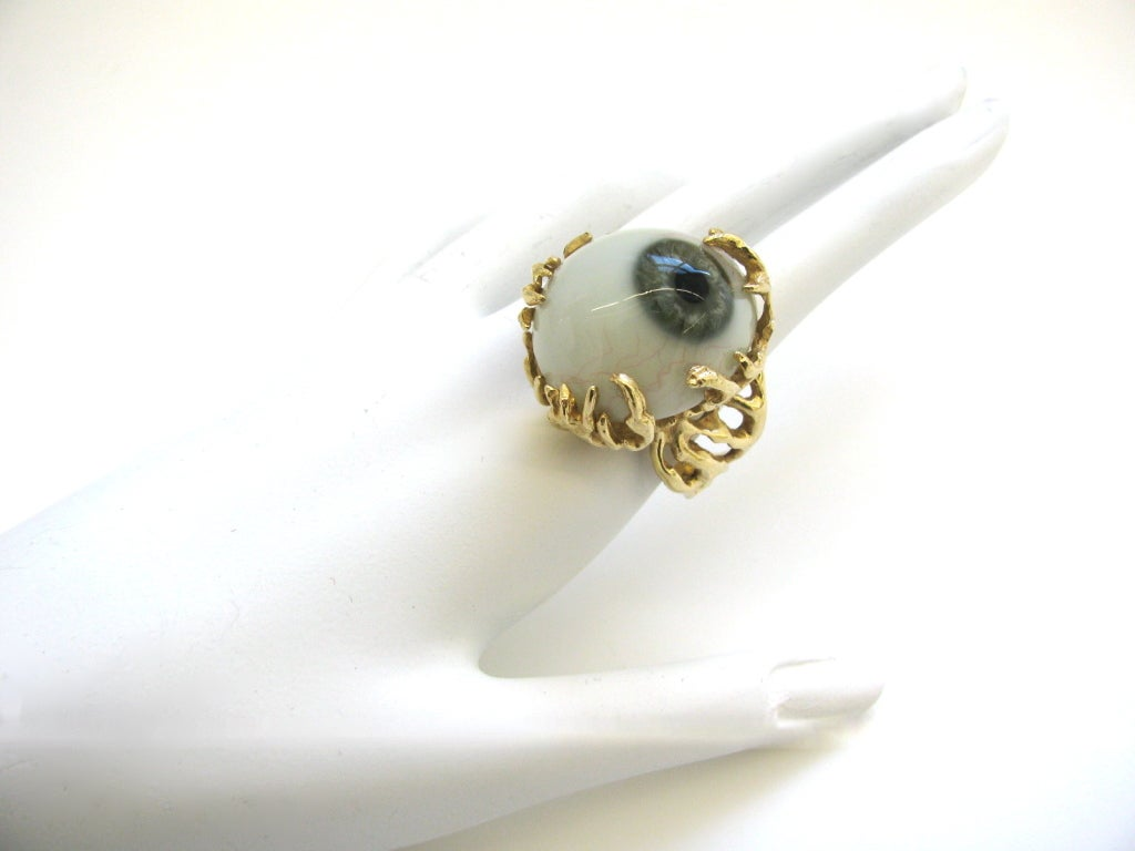 Glass Eye and Gold Ring c1970 7