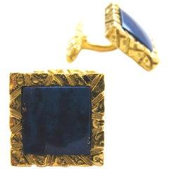 Lapis Lazuli and Gold Cufflinks,c 1970