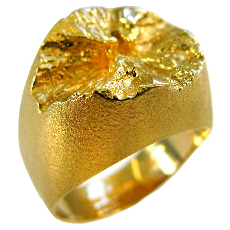 Bjorn Weckstrom For Lapponia A Gold Ring C 1970 At 1stdibs