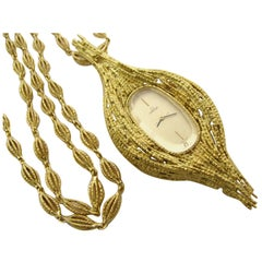 ANDREW GRIMA for OMEGA Yellow Gold Pendant Watch circa 1970