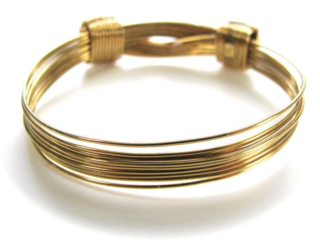 Elephant hair bracelet with gold for men - photo#23