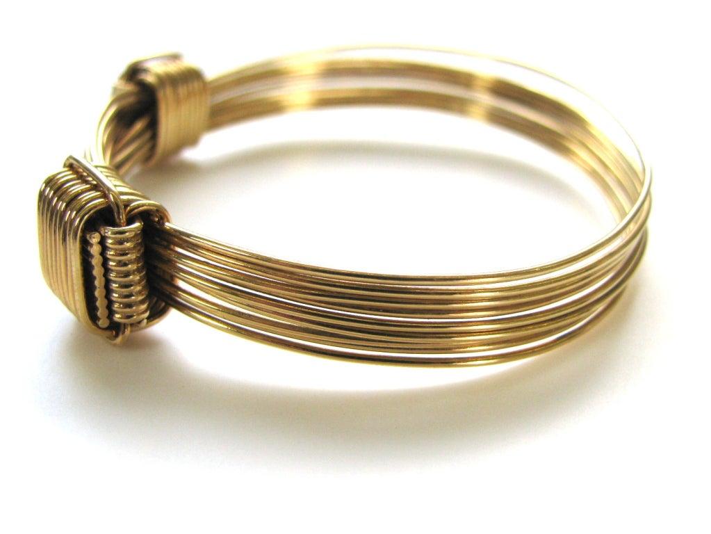Elephant hair bracelet with gold for men - photo#8