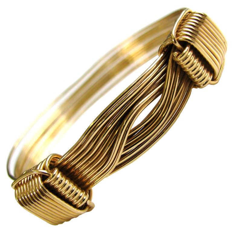 Elephant hair bracelet with gold for men - photo#26
