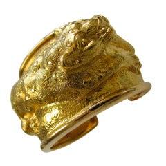 David Webb A Gold Panther Bracelet c1970