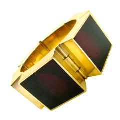 Walter Schluep, A Gold and Resin Bracelet 1971
