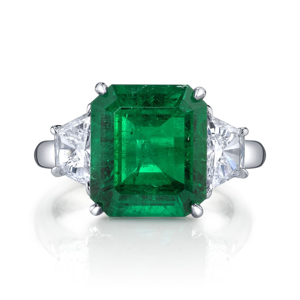 and co 4 62 ct emerald and ring at 1stdibs