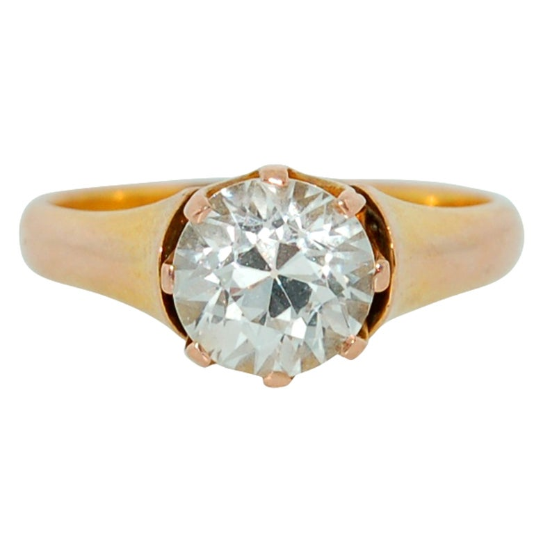 TIFFANY and CO Antique Gold 1 70 Carat Diamond Engagement Ring at 1stdibs