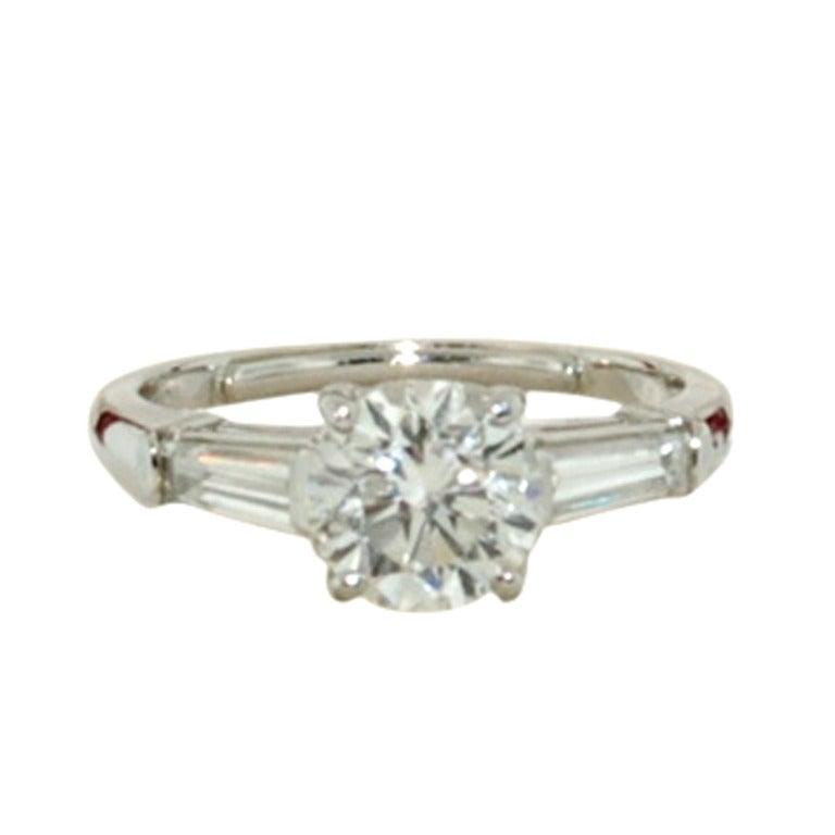 CARTIER Platinum 2 16 TCW Diamond Engagement Ring at 1stdibs