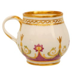 A rare Russian Imperial porcelain ice cup from the Arabesque Service