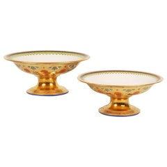 Antique Russian Imperial Porcelain Factory Kremlin Service Compotes, Pair