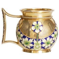 FABERGE Enamel Silver Cup