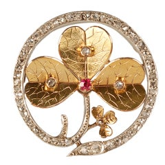 LORIE Gem-set Gold and Diamond Brooch